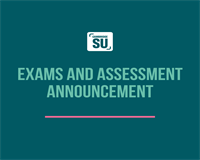 Exams and Assessment Announcement