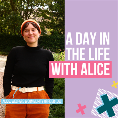 A day in the life with Alice. Alice, Welfare & Community Officer
