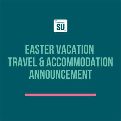 Easter Vacation Travel and Accommodation Announcement