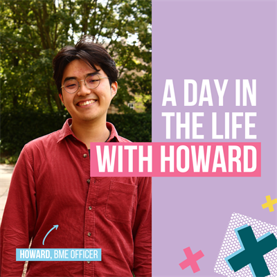 A day in the life with Howard. Howard, BME Officer