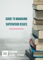Guide to managing supervisor issues