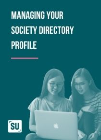 Guide to Managing your society directory profile